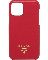 Prada Logo Plaque Iphone 11 Pro Max Case - Red