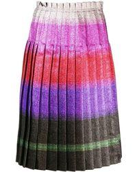Marco De Vincenzo Pleated Lurex Stripe Skirt - Розовый