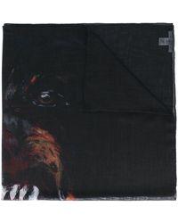 Givenchy Schal mit Rottweiler-Print - Schwarz
