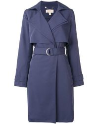 MICHAEL Michael Kors - Belted Trench Coat - Lyst
