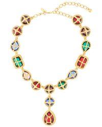 Kenneth Jay Lane Collar con gemas - Multicolor