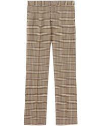 Burberry - Pantalon en maille à motif Prince de Galles - Lyst