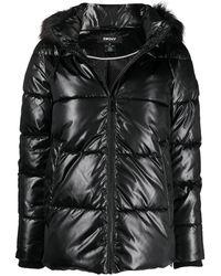 DKNY Doudoune à capuche - Noir