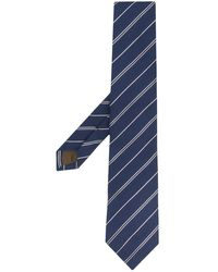 Church's Striped Silk Tie - Blue