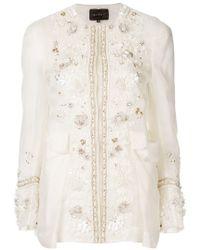 Biyan Embellished Jacket - White