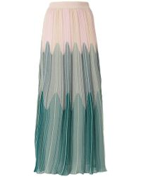 M Missoni - Ombré-effect Knitted Maxi Skirt - Lyst