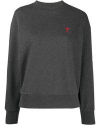 AMI De Coeur Patch Sweatshirt - Grey