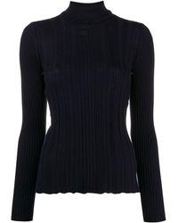 Courreges タートルネック セーター - ブルー