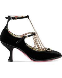 Gucci Туфли-лодочки С Т-образным Ремешком - Черный