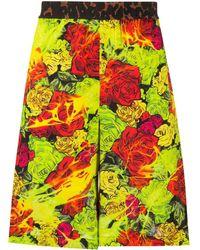 Versace - Floral-print Bermuda Shorts - Lyst