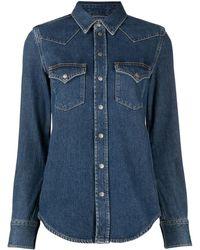 DIESEL Western Long-sleeved Denim Shirt - Blue