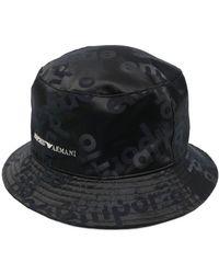 Emporio Armani Панама С Логотипом - Черный