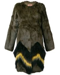 Meteo by Yves Salomon - Contrast Fur Coat - Lyst