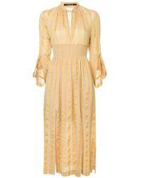 Kitx - Tonal Stripe Manderin Dress - Lyst