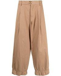 Kolor Cropped Wide-leg Pants - Brown