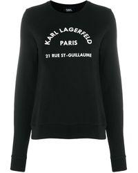 Karl Lagerfeld - Худи Address С Логотипом - Lyst