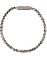 Tateossian Bracelet en chaîne Pop Sleek - Métallisé