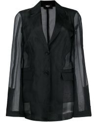 Yang Li - Sheer Sleeves Blazer - Lyst