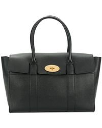 Mulberry - New Bayswater Tote Classic Grain Black - Lyst