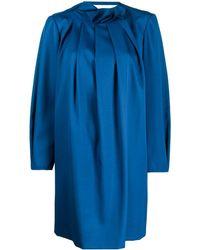 Nina Ricci プリーツ シフトドレス - ブルー