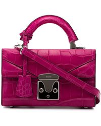 Stalvey Pink Top Handle 2.0 Mini Alligator Handbag - Roze
