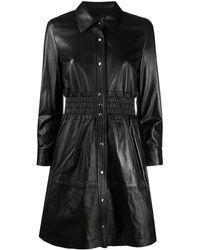 COACH Приталенное Платье-рубашка - Черный
