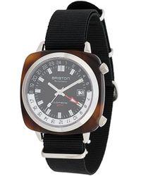 Briston 'Clubmaster GMT' Armbanduhr - Schwarz