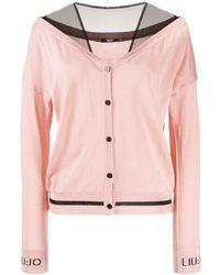 Liu Jo Two-tone Buttoned Cardigan - Pink
