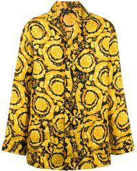 Versace Рубашка С Принтом Barocco - Желтый