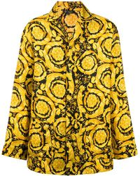 Versace バロックプリント パジャマシャツ - イエロー