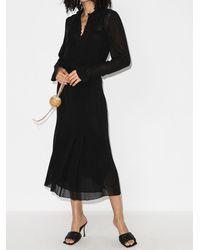 Saint Laurent - Прозрачное Платье-рубашка - Lyst