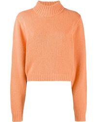 The Row カシミア タートルネックセーター - オレンジ