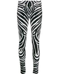 Versace - Zebra Print leggings - Lyst
