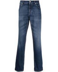 Brunello Cucinelli - Mid-rise Straight Leg Jeans - Lyst
