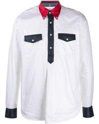 TAKAHIROMIYASHITA TheSoloist. Colour Block Shell Shirt - White