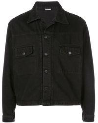 Second/Layer Boxy Denim Jacket - Black