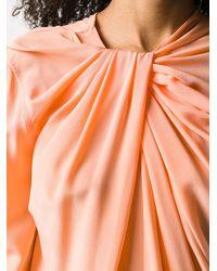 Victoria Beckham ツイストネック ブラウス - オレンジ