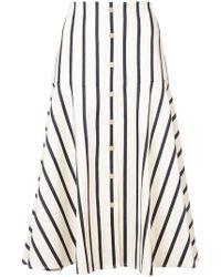 Veronica Beard - Striped Flared Skirt - Lyst