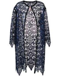 Antonio Marras - Lace Embroidered Cardi-coat - Lyst