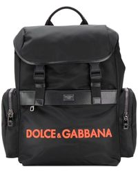 Dolce & Gabbana Mochila con diseño estructurado - Negro