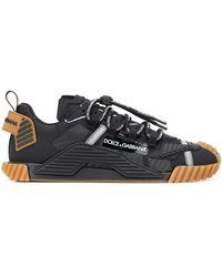 Dolce & Gabbana Sorrento Sneakers Van Gemixt Materiaal - Zwart