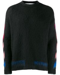 Off-White c/o Virgil Abloh Diagonal Brushed Sweater - Black