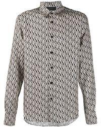 Amiri - Camisa con monograma estampado - Lyst