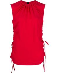 Marni Блузка Без Рукавов Со Сборками - Красный