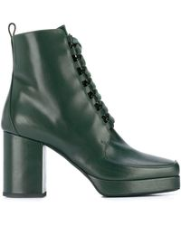 Christian Wijnants Lace Up Alec Boots - Green
