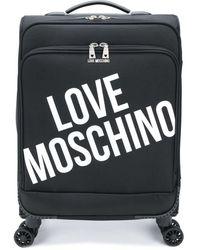 Love Moschino Maleta con estampado del logo - Negro
