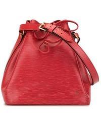 Louis Vuitton 1999 Pre-owned Petit Noe Drawstring Shoulder Bag - Red