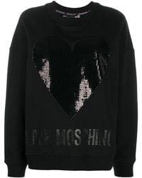 Love Moschino - ハート スウェットシャツ - Lyst