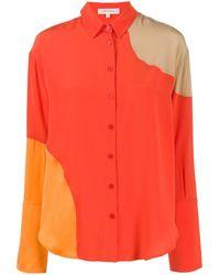 Chinti & Parker Panelled Loose-fit Shirt - Orange