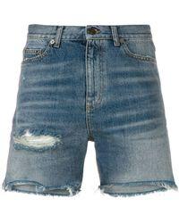 Saint Laurent Shorts in denim - Blu